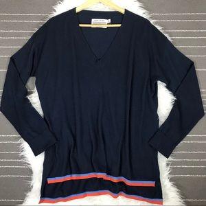 Tory Burch Sport v neck cashmere coolmax sweater